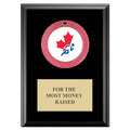 GEM Full Color Medal Award Plaque - Black Finish