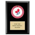 GEM Full Color Medal Award Plaque - Black Finish
