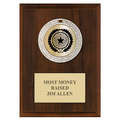 GEM Metallic Medal Award Plaque - Cherry Finish