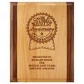 Award Plaque - Engraved Red Alder & Walnut