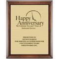 Award Plaque - Espresso w/ Engraved Plate