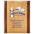 Full Color Award Plaque - Red Alder & Walnut