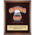 Full Color Award Plaque - Expresso w/ Engraved Plate