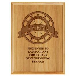 Award Plaque - Engraved Red Alder