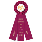 Ideal Rosette Award Ribbon w/ 3 Streamer Printing