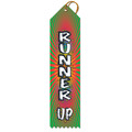 Runner Up Multicolor Point Top Award Ribbon