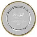 Round Charger Award Tray w/ Gold Border