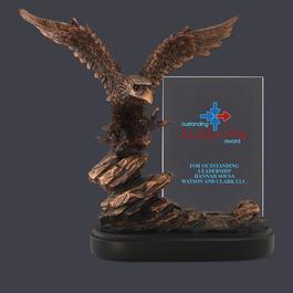 Bronze Resin Eagle Trophy