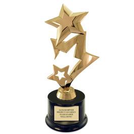 Three Star Trophy w/ Round Base
