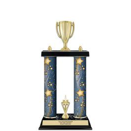 """15"""" Black Finished Award Trophy w/ Trim"""