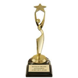 """5-1/2"""" Black HS Base Award Trophy"""