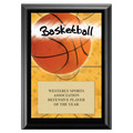Basketball Black Wood Plaque