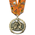 ES Award Medal w/ Multicolor Neck Ribbon