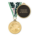 Brite Laser Medal w/ Any Grosgrain Neck Ribbon - ENGRAVED