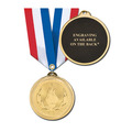 Brite Laser Medal w/ Any Specialty Satin Neck Ribbon-ENGRAVED