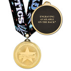 BL Gymnastics Medal w/ Any Multicolor Neck Ribbon - ENGRAVED