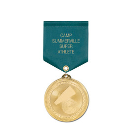Brite Laser Medal w/ Any Satin Drape Ribbon