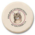 "1-3/4"" Cat Show Button w/ Pin"