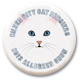 "3"" Cat Show Button w/ Pin"