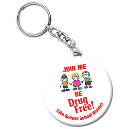 Personalized Drug-Free Keychain Buttons