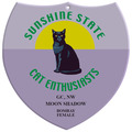 Full Color Cat Show Wall Plaque - Shield Shape