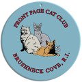 Full Color Cat Show Wall Plaque - Round Shape