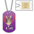 Custom Cat Show Dog Tags w/ Engraved Plate