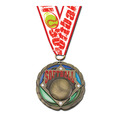 COLORED EPOXY MEDAL W/ ANY GROSGRAIN NECK RIBBON