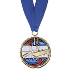 CEM Gymnastics Medal w/ Any Grosgrain Neck Ribbon