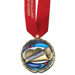 CEM Gymnastics Medal w/ Any Satin Neck Ribbon