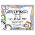 Full Color Custom School Certificates - Clock Design