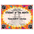 Custom School Award Certificates - Paws Design