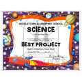 Full Color Custom School Certificates - Rocket Ship Design