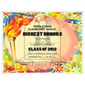 Full Color Custom School Certificates - Torch Design