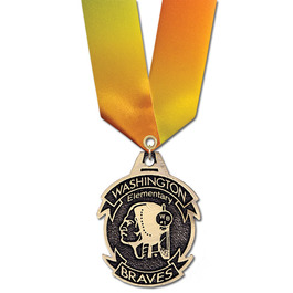 CG Sports Award Medal w/ Specialty Satin Neck Ribbon