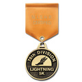 CG Sports Medal w/ Satin Drape Ribbon