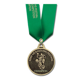 CG Sports Medal w/ Satin Neck Ribbon