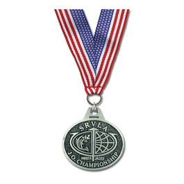 CG Sports Award Medal w/ Grosgrain Neck Ribbon