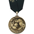 WC Winner's Circle Award Medal w/ Satin Neck Ribbon