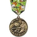 WC Winner's Circle Award Medal w/ Multicolor Neck Ribbon