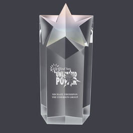 Crystal Rising Star Award Trophy