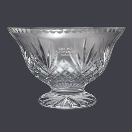 Crystal Vanderbilt Footed Bowl Trophy