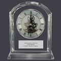 Optical Crystal Desk Clock Dog Show Award