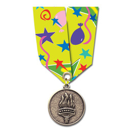 CX Medal w/ Multicolor Satin Neck Ribbon