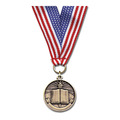 CX Medal w/ Red/White/Blue or Flag Grosgrain Neck Ribbon