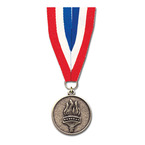 CX Medal w/ Red/White/Blue Grosgrain Neck Ribbon