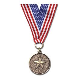 CX Award Medal w/ Grosgrain Neck Ribbon