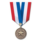 CX Medal w/ Specialty Satin Neck Ribbon