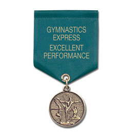 CX Medal w/ Satin Drape Ribbon
