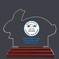 Rabbit Shaped Dog Show Acrylic Award Trophy